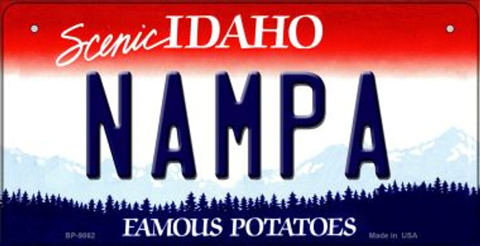 Nampa Idaho Novelty Metal Bicycle Plate BP-9862