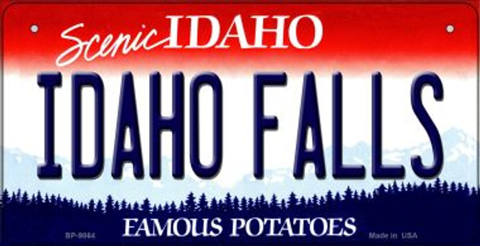 Idaho Falls Idaho Novelty Metal Bicycle Plate BP-9864
