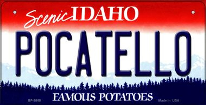 Pocatello Idaho Novelty Metal Bicycle Plate BP-9865