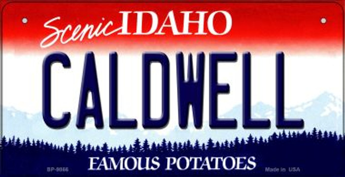 Caldwell Idaho Novelty Metal Bicycle Plate BP-9866