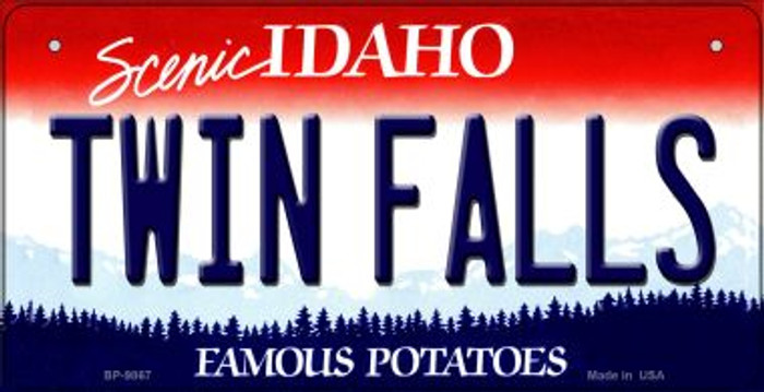 Twin Falls Idaho Novelty Metal Bicycle Plate BP-9867
