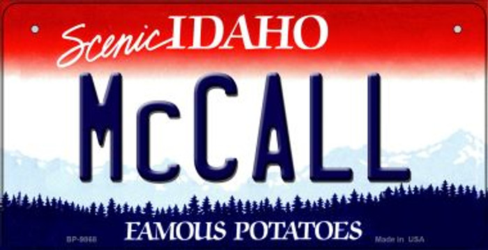 McCall Idaho Novelty Metal Bicycle Plate BP-9868
