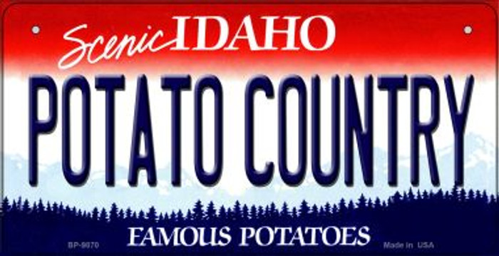 Potato Country Idaho Novelty Metal Bicycle Plate BP-9870