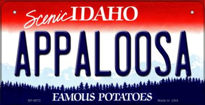 Appaloosa Idaho Novelty Metal Bicycle Plate BP-9872