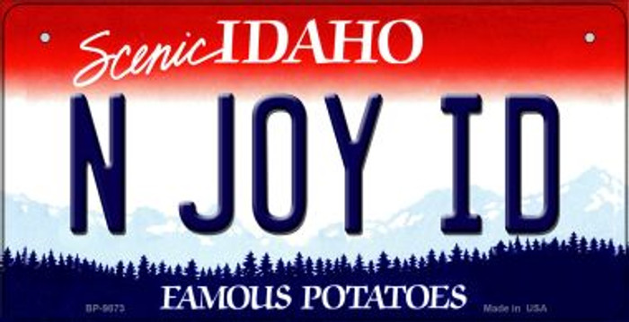 N Joy ID Idaho Novelty Metal Bicycle Plate BP-9873