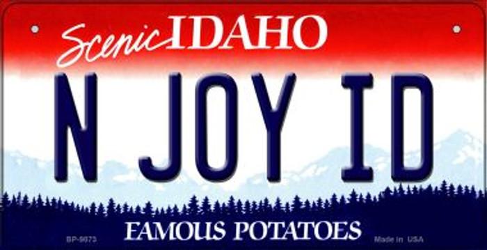 N Joy ID Idaho Novelty Metal Bicycle Plate BP-9873
