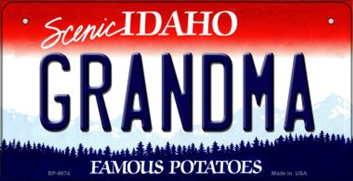 Grandma Idaho Novelty Metal Bicycle Plate BP-9874