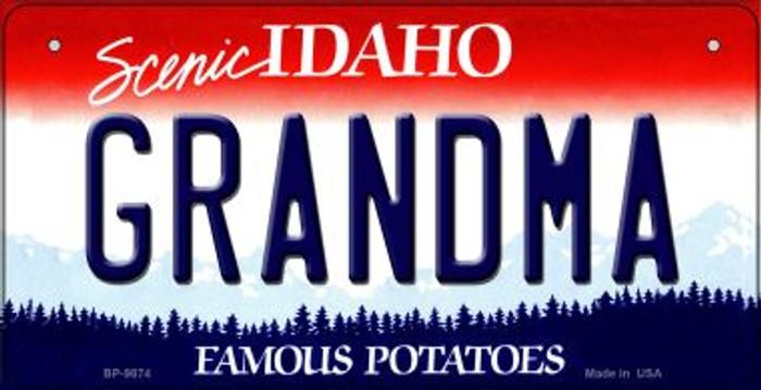 Grandma Idaho Novelty Metal Bicycle Plate BP-9874