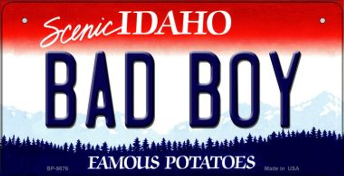 Bad Boy Idaho Novelty Metal Bicycle Plate BP-9876