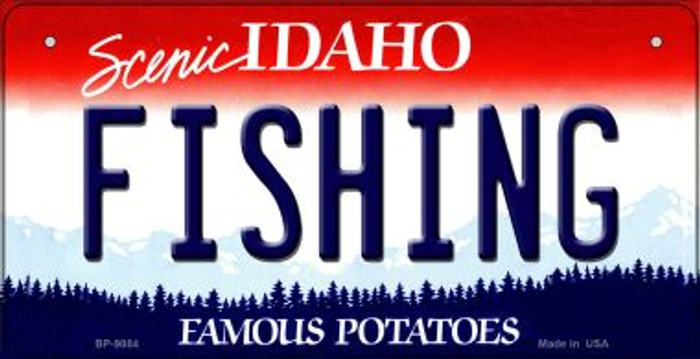 Fishing Idaho Novelty Metal Bicycle Plate BP-9884