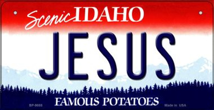 Jesus Idaho Novelty Metal Bicycle Plate BP-9885