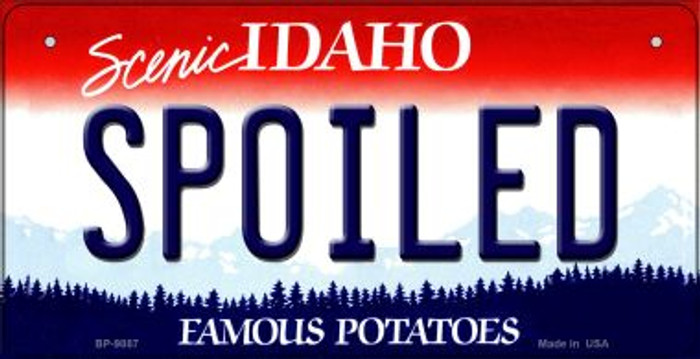 Spoiled Idaho Novelty Metal Bicycle Plate BP-9887
