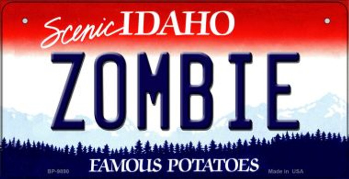 Zombie Idaho Novelty Metal Bicycle Plate BP-9890