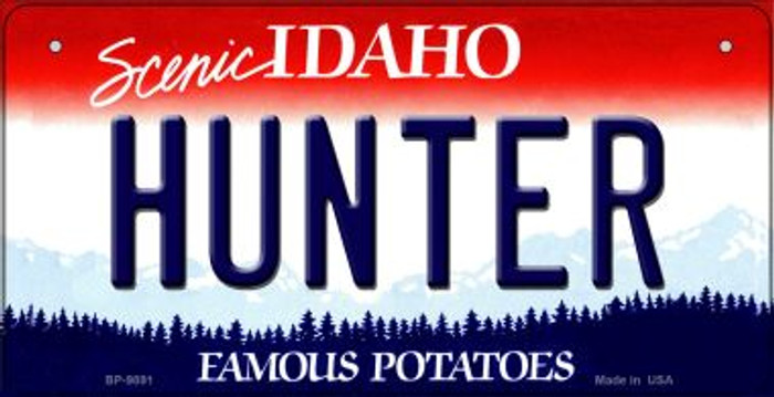 Hunter Idaho Novelty Metal Bicycle Plate BP-9891