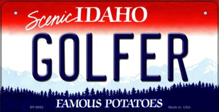 Golfer Idaho Novelty Metal Bicycle Plate BP-9892