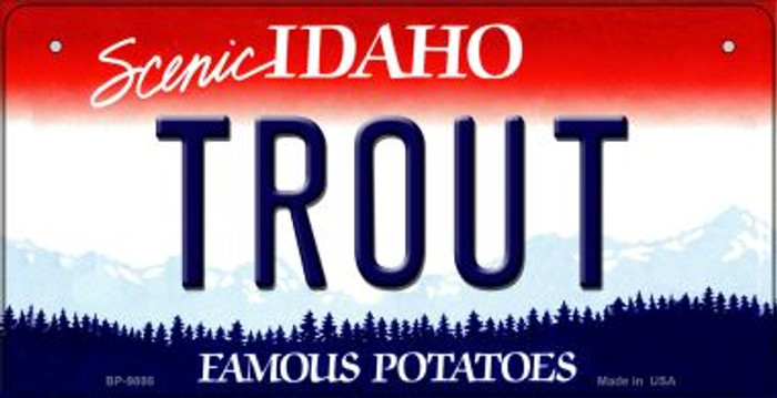 Trout Idaho Novelty Metal Bicycle Plate BP-9895