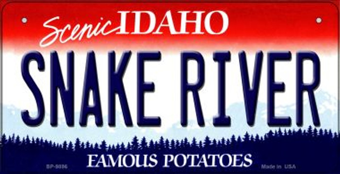 Snake River Idaho Novelty Metal Bicycle Plate BP-9896