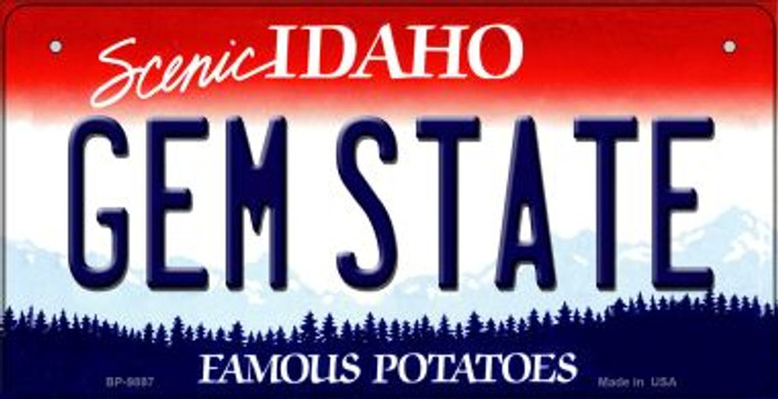 Gem State Idaho Novelty Metal Bicycle Plate BP-9897