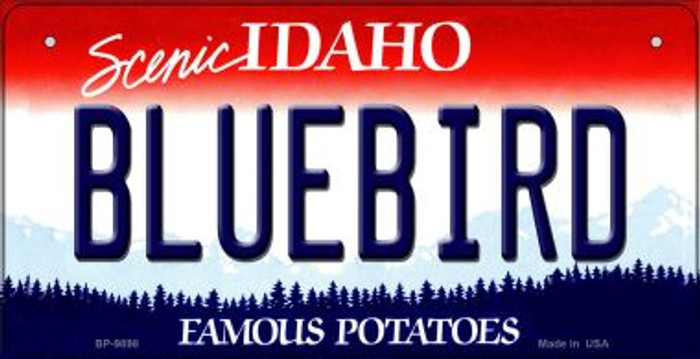 Bluebird Idaho Novelty Metal Bicycle Plate BP-9898