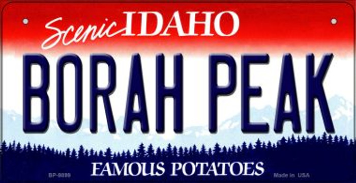 Borah Peak Idaho Novelty Metal Bicycle Plate BP-9899