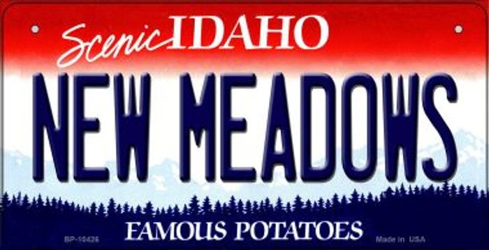 New Meadows Idaho Novelty Metal Bicycle Plate BP-10426