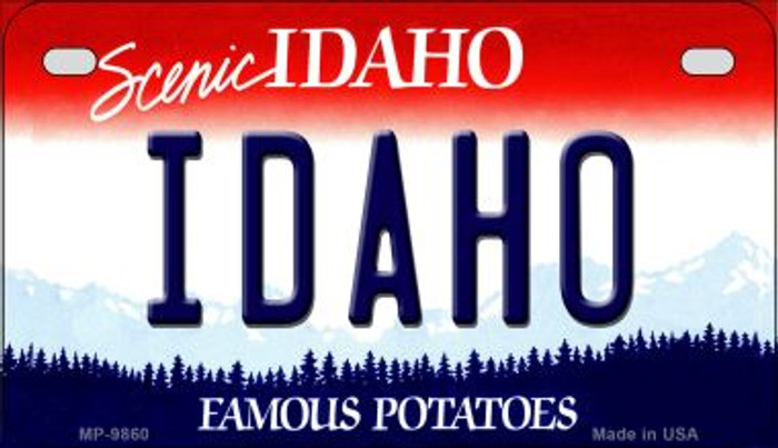 Idaho Novelty Metal Motorcycle Plate MP-9860