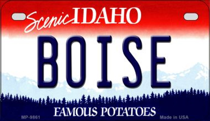 Boise Idaho Novelty Metal Motorcycle Plate MP-9861