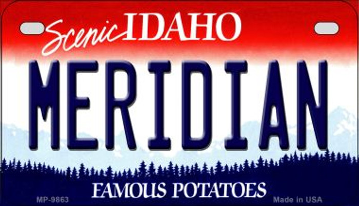 Meridian Idaho Novelty Metal Motorcycle Plate MP-9863