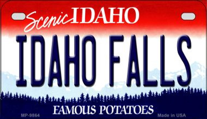 Idaho Falls Idaho Novelty Metal Motorcycle Plate MP-9864