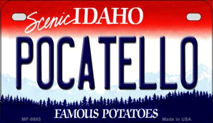 Pocatello Idaho Novelty Metal Motorcycle Plate MP-9865