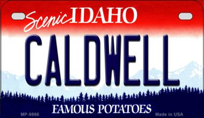 Caldwell Idaho Novelty Metal Motorcycle Plate MP-9866