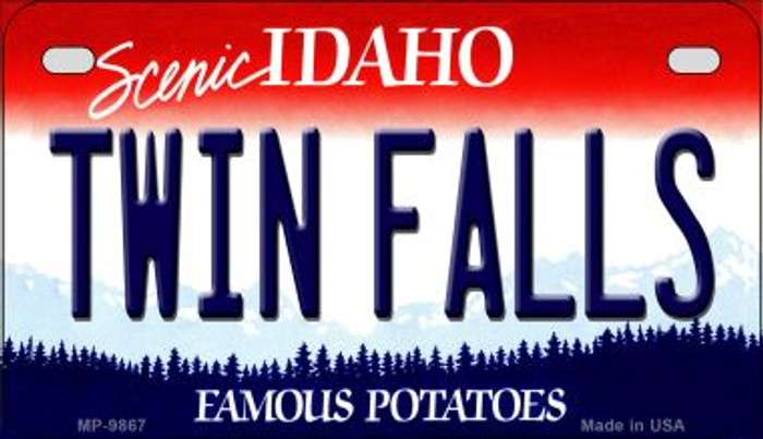 Twin Falls Idaho Novelty Metal Motorcycle Plate MP-9867