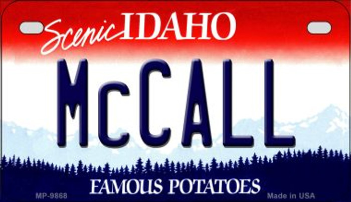 McCall Idaho Novelty Metal Motorcycle Plate MP-9868