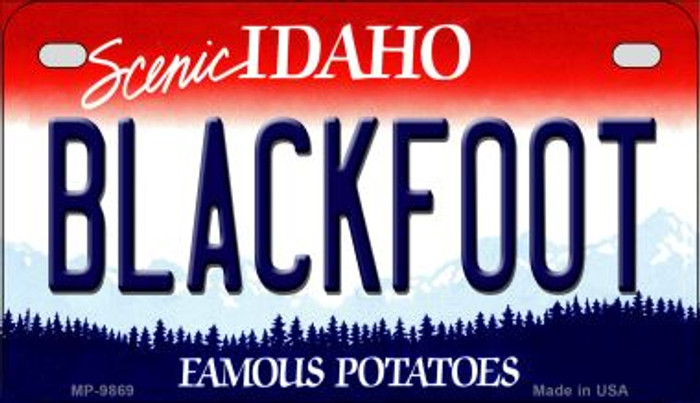 Blackfoot Idaho Novelty Metal Motorcycle Plate MP-9869