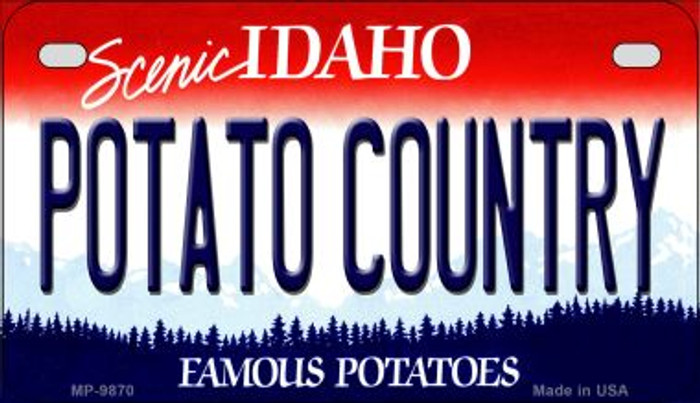 Potato Country Idaho Novelty Metal Motorcycle Plate MP-9870