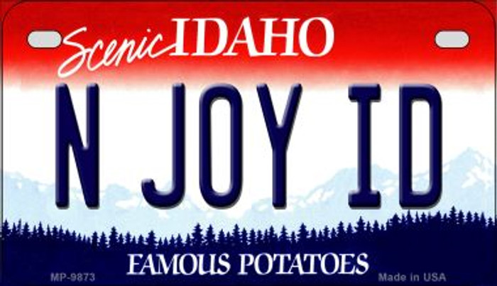 N Joy ID Idaho Novelty Metal Motorcycle Plate MP-9873