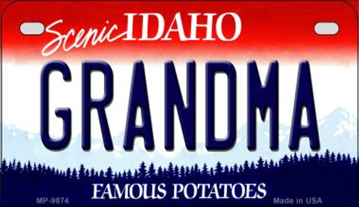 Grandma Idaho Novelty Metal Motorcycle Plate MP-9874