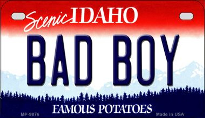 Bad Boy Idaho Novelty Metal Motorcycle Plate MP-9876