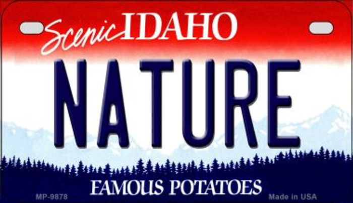 Nature Idaho Novelty Metal Motorcycle Plate MP-9878