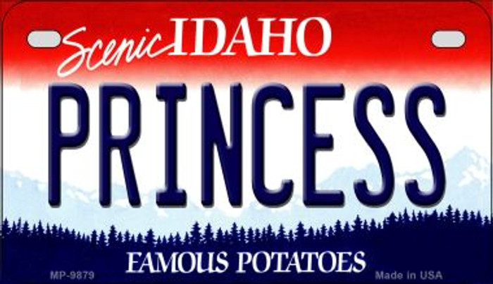 Princess Idaho Novelty Metal Motorcycle Plate MP-9879