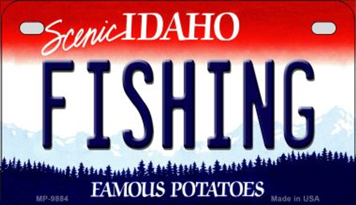 Fishing Idaho Novelty Metal Motorcycle Plate MP-9884