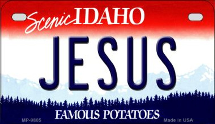 Jesus Idaho Novelty Metal Motorcycle Plate MP-9885