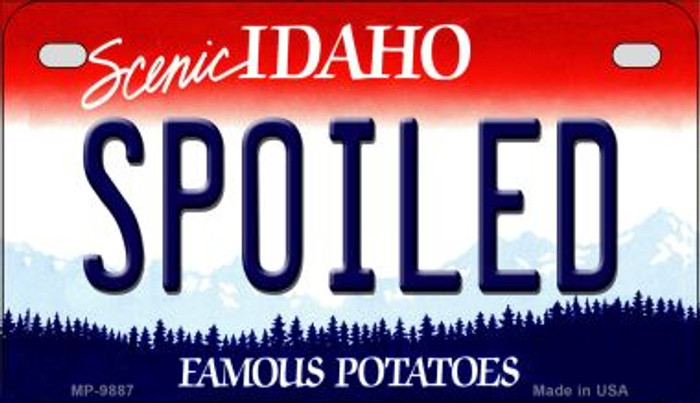 Spoiled Idaho Novelty Metal Motorcycle Plate MP-9887