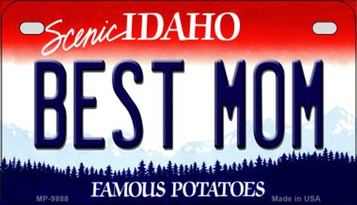 Best Mom Idaho Novelty Metal Motorcycle Plate MP-9888