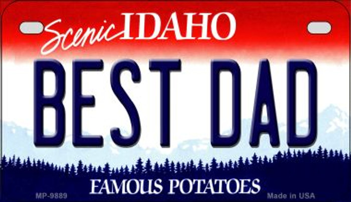 Best Dad Idaho Novelty Metal Motorcycle Plate MP-9889