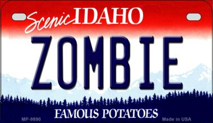 Zombie Idaho Novelty Metal Motorcycle Plate MP-9890