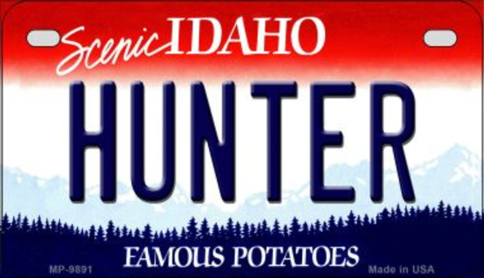 Hunter Idaho Novelty Metal Motorcycle Plate MP-9891