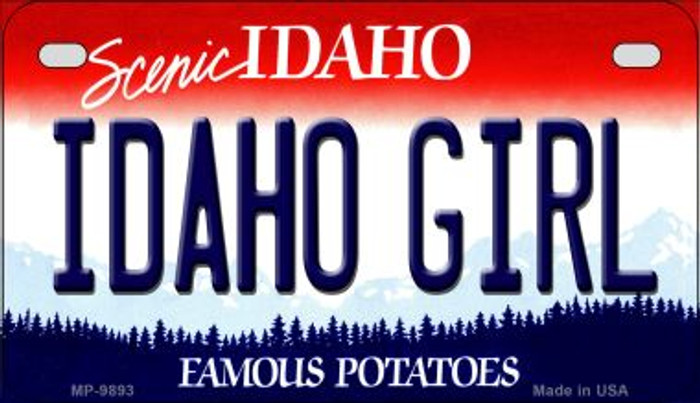 Idaho Girl Idaho Novelty Metal Motorcycle Plate MP-9893