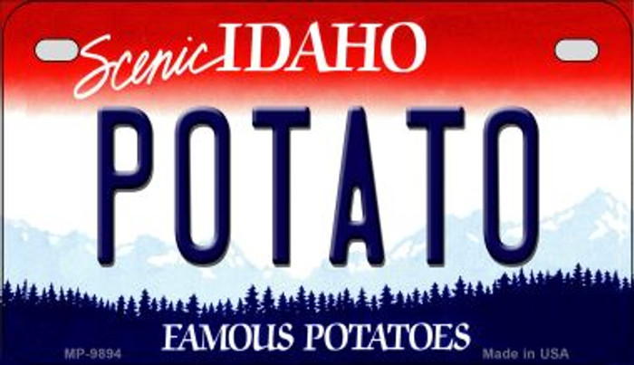 Potato Idaho Novelty Metal Motorcycle Plate MP-9894