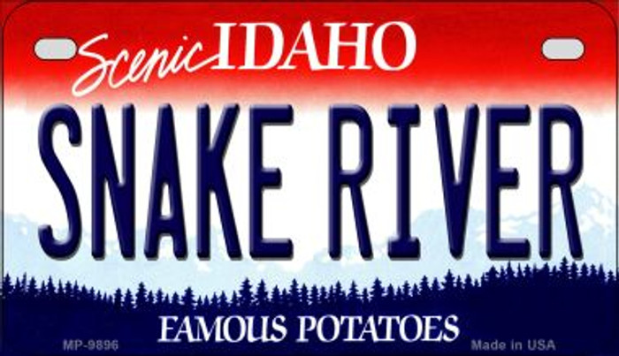 Snake River Idaho Novelty Metal Motorcycle Plate MP-9896